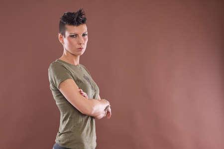 hair short: modello di capelli corti Archivio Fotografico