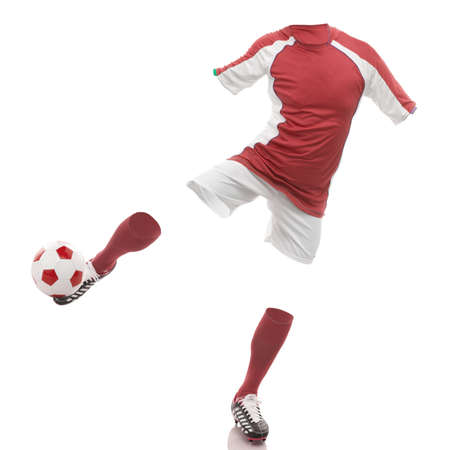 invisible soccer player  Stock Photo