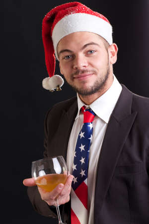 hat new year s eve: christmas businessman