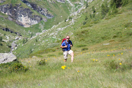 aosta: hiking in Aosta Valley Stock Photo
