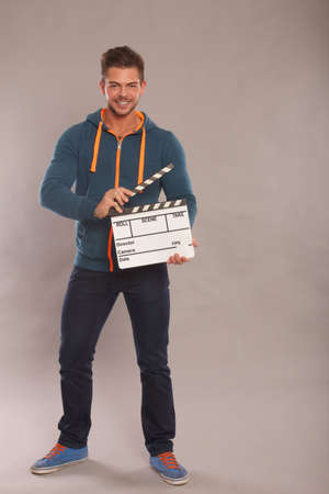 Man with Clapboard  photo