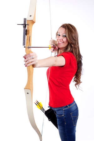 Female Archer Standard-Bild