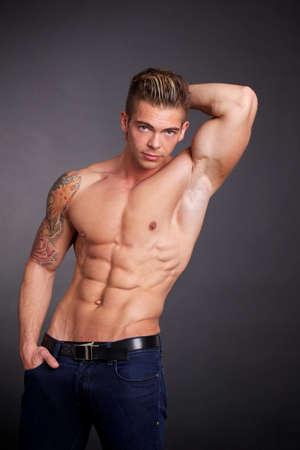 muscle man photo