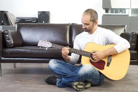 guitar player Stok Fotoğraf