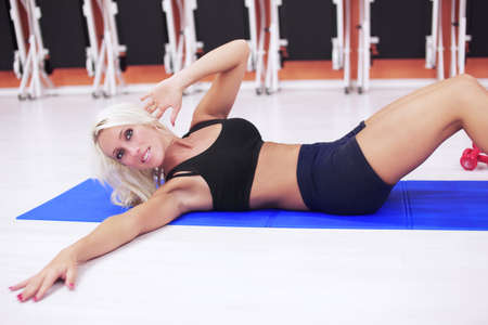 sit-ups in gym photo