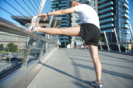 stretching 写真素材