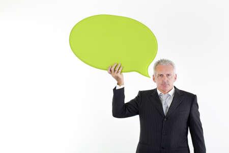 serene people: businessman Stock Photo