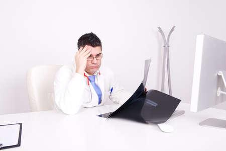 worried doctor photo