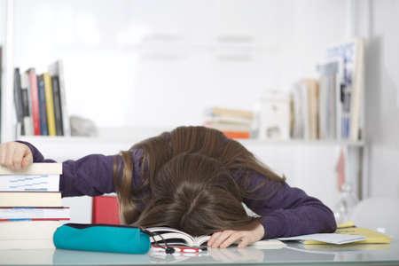 adult student: student sleeping