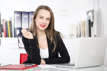 assignment: businesswoman Stock Photo