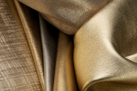 rawhide: leather close up Stock Photo