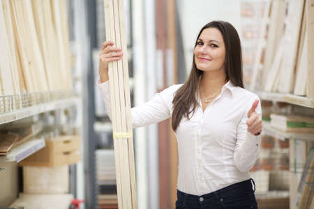 retail place: woman buy at hardware store