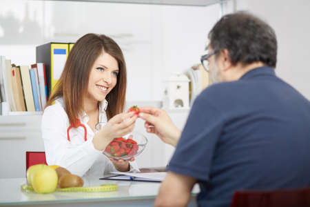 young nutritionist Stock Photo