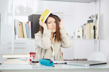stressed out: stressed out student Stock Photo