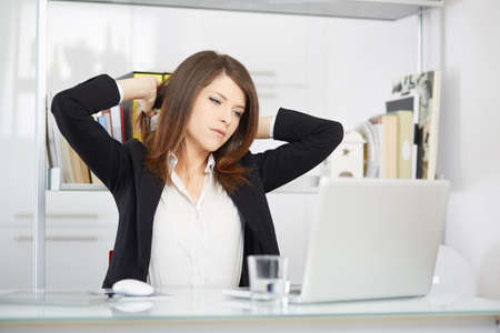 stressed out: stressed out businesswoman