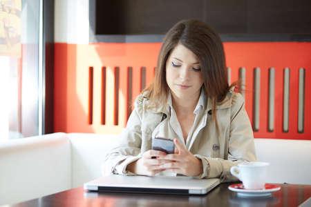 young businesswoman in a coffee break Standard-Bild