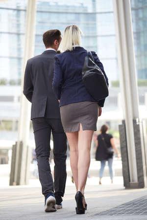 teamwork walking Stock Photo