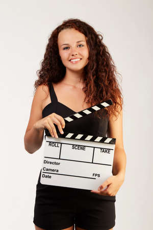 young woman with ciak