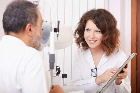 anesthetize: young optometrist