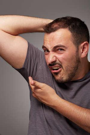 odor: adult man taste his body odor