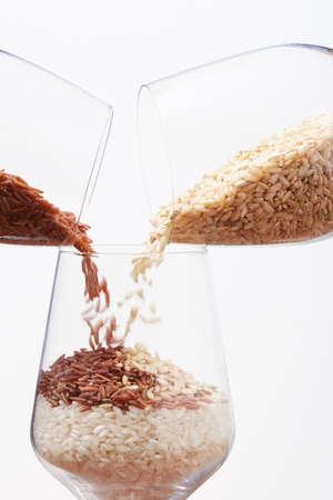 arroz dentro de una copa de vino