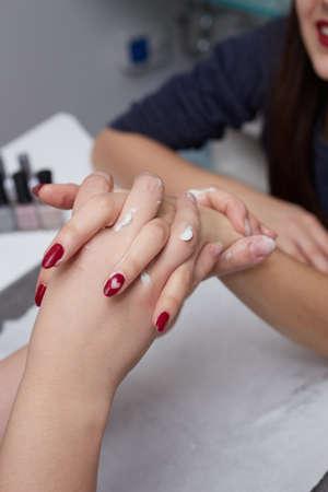 Close up of a woman hand massage