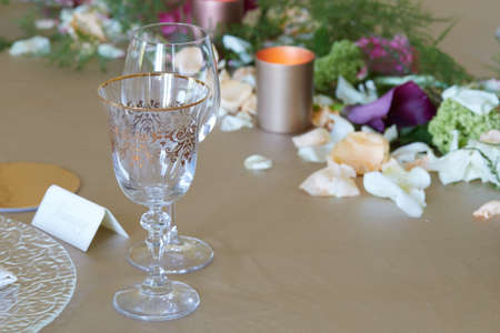 close up of The elegant dinner table