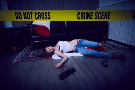 crime scene illustration background. Stockfoto