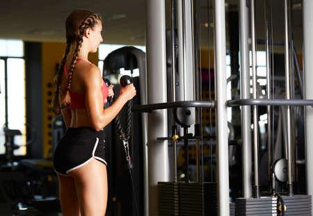 body building training at gym Stok Fotoğraf