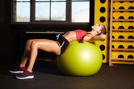 fit ball workout at gym