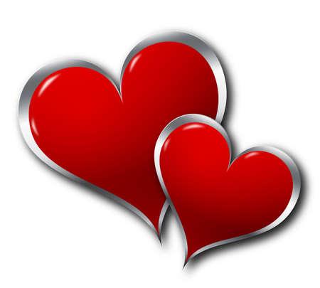 Two hearts Stock Photo - 7042438