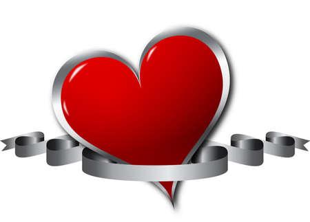hearth: Hearth with a ribbon Stock Photo