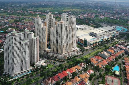 Vue aérienne de West Surabaya ville Banque d'images