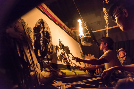 Balinese traditional shadow puppet