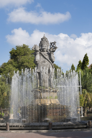 trave: Catur Muka four faces landmark of Denpasar city which is an image of Lord Brahma , who is believed as the creator in Hinduism.