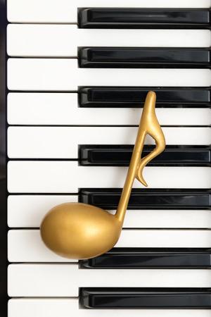 pianoforte: Quavernote on keyboard