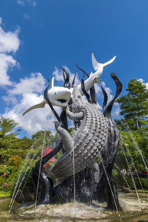 Sura and Baya statue in Surabaya Zoo