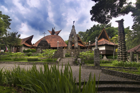 Puhsarang Church, build with java architecture and culture in 1936, Kediri, East Java, Indonesia