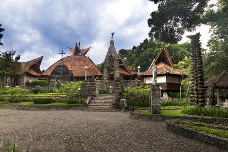 St Mary Church, Puhsarang, Kediri, Indonésie Banque d'images