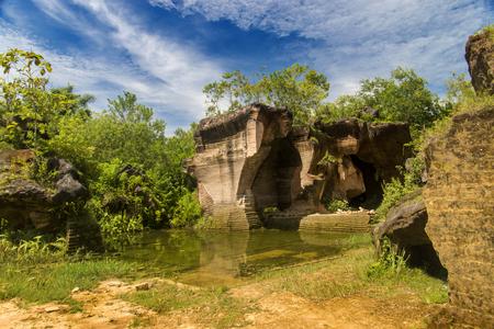 caved: Beautiful limestone hills, Arosbaya, Madura