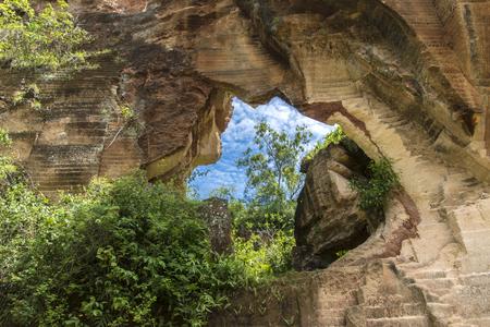 La beauté des collines de calcaire, Arosbaya, Madura