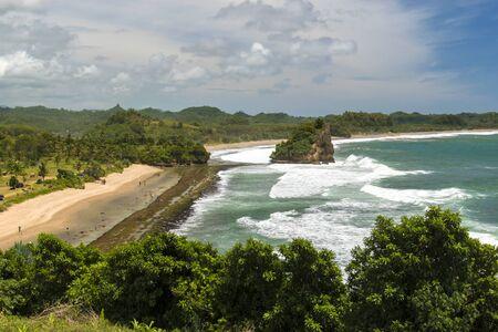 Jelangkung Beach vue depuis la colline, Malang, East Java