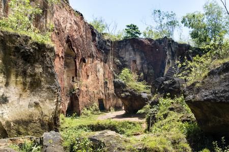 Pétrole calcaire, Arosbaya, Madura Banque d'images