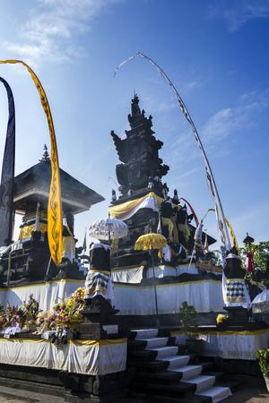 Temple hindou à la cérémonie du Melasti