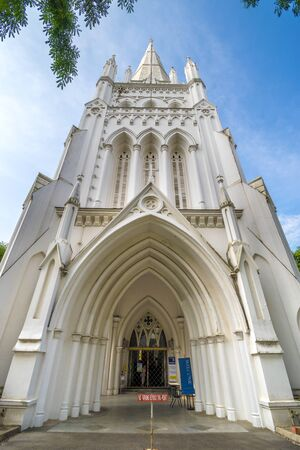 St. Andrew's Cathedral is an Anglican cathedral in Singapore, the country's largest cathedral. Stock fotó