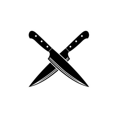 an icon vector about cross knife