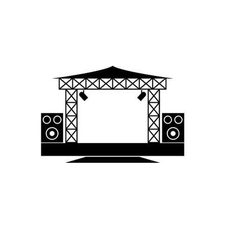 une icône de vecteur sur la scène de concert en plein air