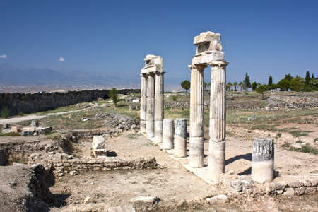 Ruins of school   at ancient Hierapolis, now Pamukkale, Turkey