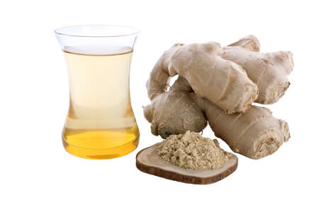 Ginger tea isolated on white background Stock Photo - 16449457