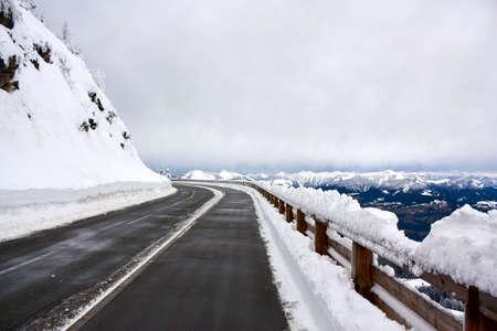 Rossfeld mountain road in Germany Stock Photo